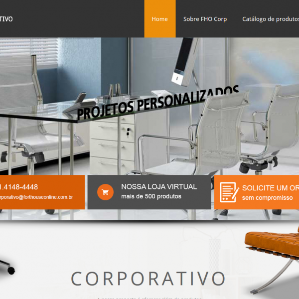 Site FORT HOUSE Online Corporativo